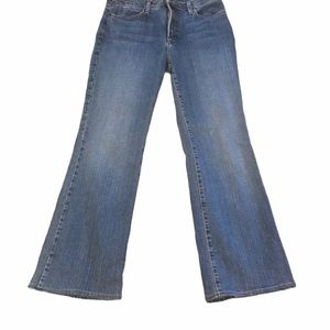 NYDJ Mid Rise Med Wash Flare Boot Cut Jeans Sz 10P